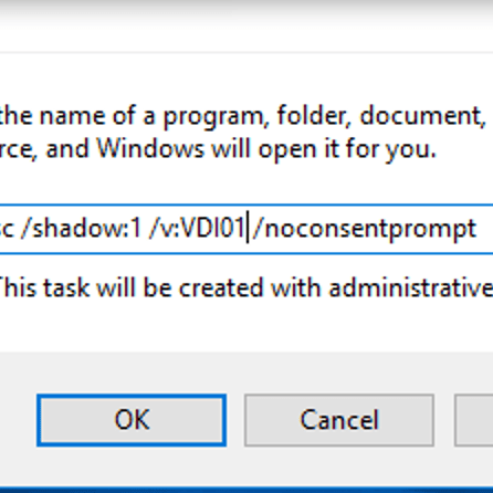 What if    What if I want to shadow you, watch you computer screen