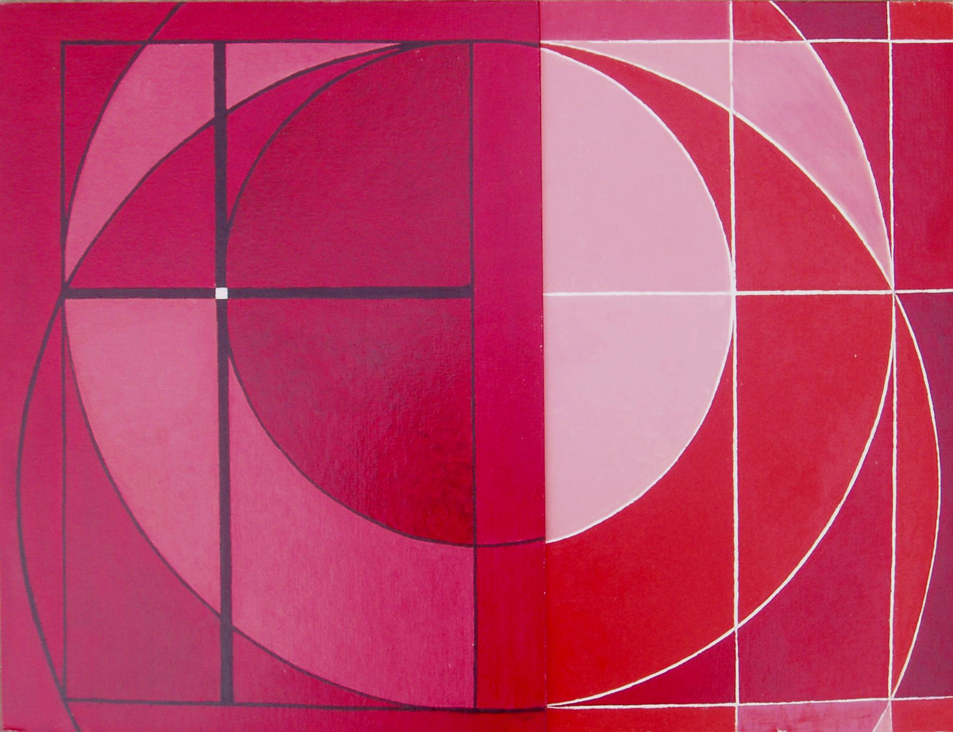 Basic I and II, placed together, August 2003. Oil on canvas on board.