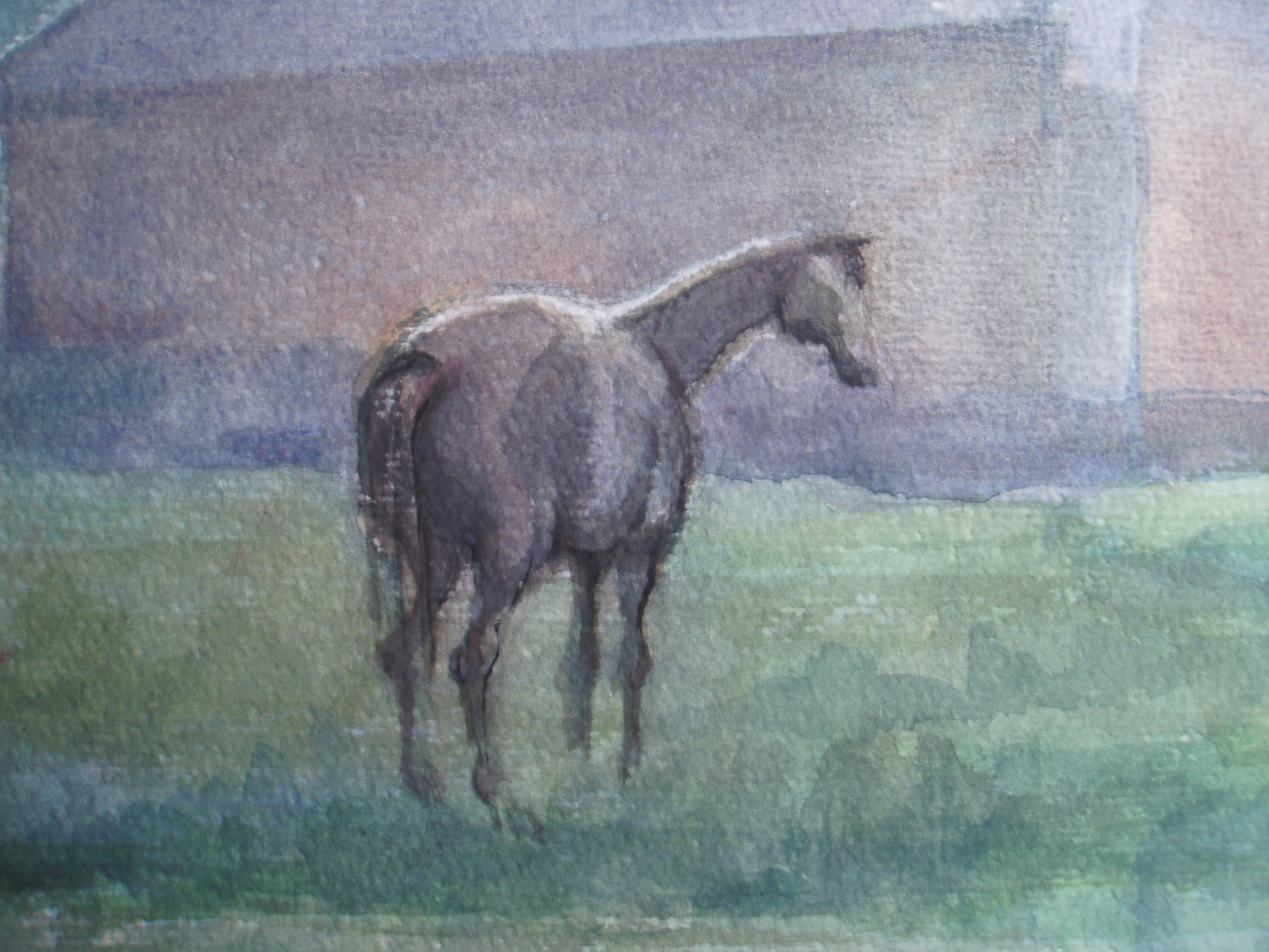 1robruigrokhorseatfarmhouse1980watercolouronpaper014.jpg