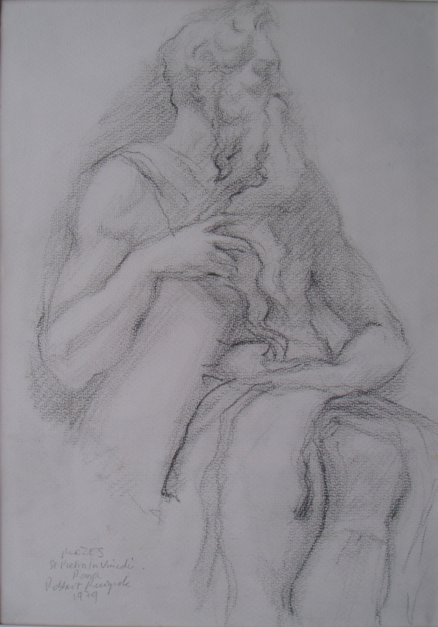 Robbert Ruigrok, Moses (after Michelangelo), 1979. Pastel pencil on paper. 34 x 25 cm.