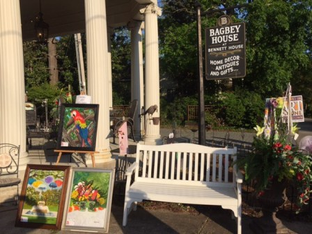 Outside Bagbey House, May 2015 Art Scene