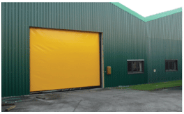 high speed fabric commercial garage doors
