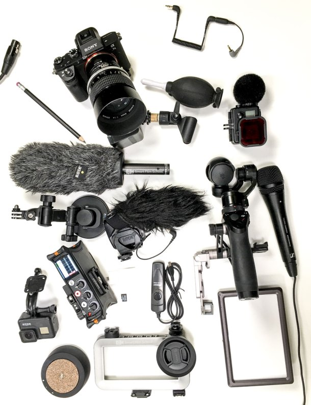 Mobile filmmaking gear by Robb Montgomery