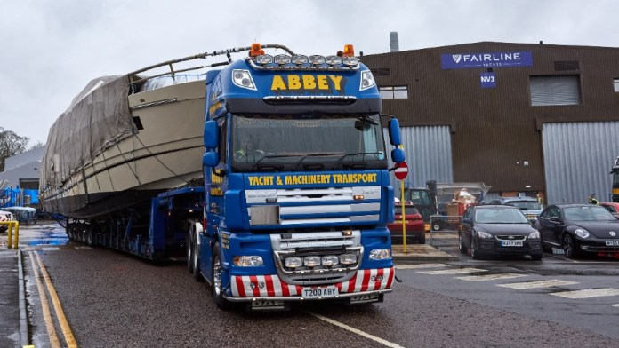 Yachts have to be delivered by canal, river or roads.