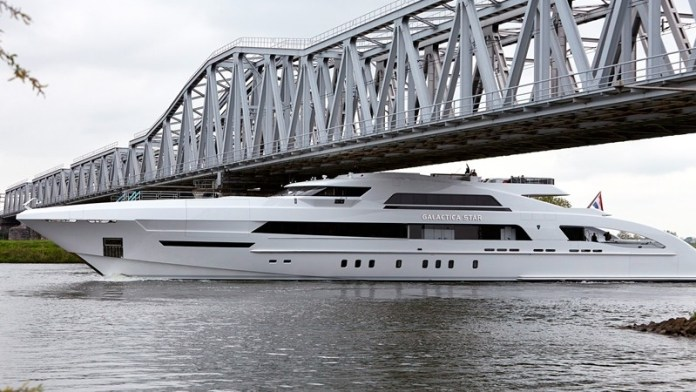 Superyachts must travel by canal, river and road to reach their destinaitons.