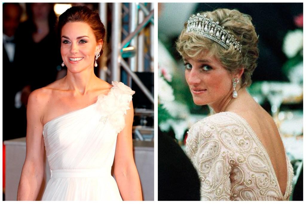 La joyería que Kate Middleton usó en los BAFTA fue cortesía de Lady Di