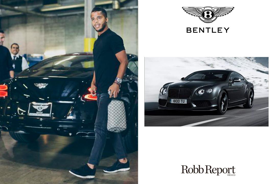 Bentley Gio - Estas son las marcas favoritas de lujo de los jugadores de la Selección de México