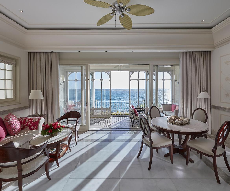 canouan accommodation one bedroom oceanview suite living room - Canouan, el nuevo paraíso tropical que querrás descubrir en tus vacaciones
