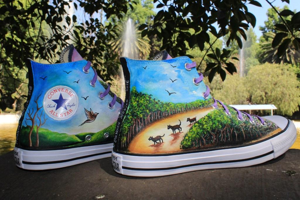 Converse impulsa arte mexicano con zapatos intervenidos por artesanos