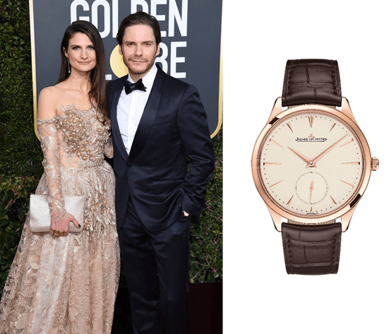 Daniel Br%C3%BChl wearing Master Ultra Thin Small Second - Los relojes favoritos de los Golden Globe los firma Jaeger-LeCoultre