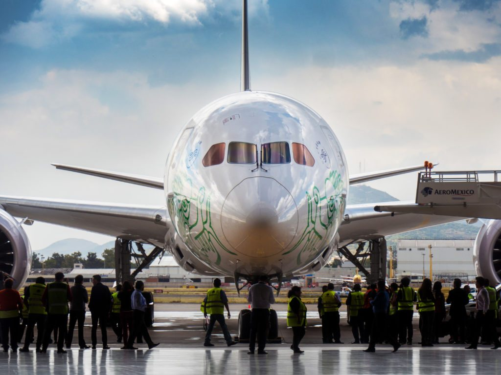Quetzalcóatl es el nuevo Boeing 787-9 Dreamliner de Aeroméxico