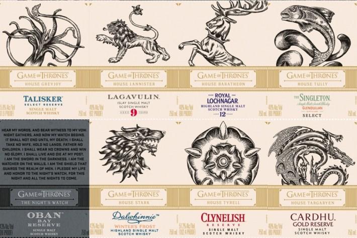 got labels 1024x683 - Esta colección de whiskies es la solución para sobrevivir a la última temporada de Game of Thrones