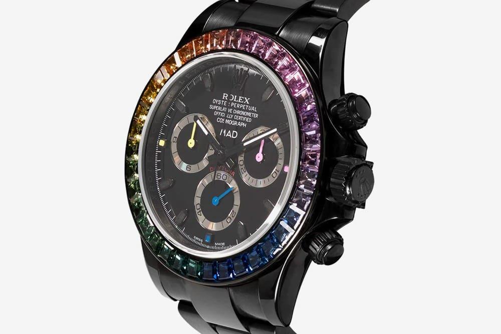 https   hypebeastcom image 2019 04 mad paris rolex sapphire rainbow daytona release 002 - Un Rolex y zafiros de arcoíris son la combinación perfecta para llevar en tu muñeca