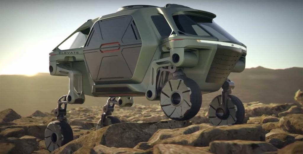 hyundai elevate 1024x522 - No es un vehículo de Star Wars, es un auto que puede convertirse en insecto