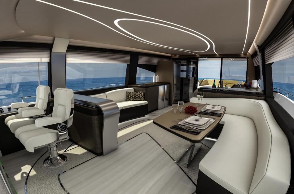 lexus ml salon dark 1024x676 - Conquista los siete mares con LY 650, el nuevo yate de Lexus