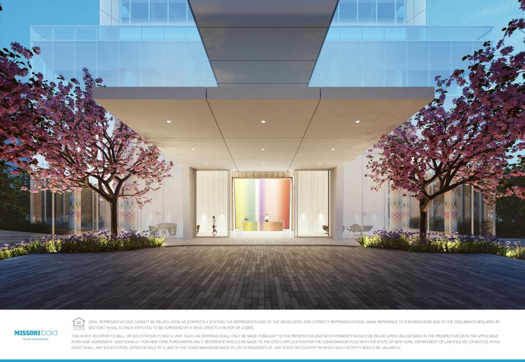 Missoni Baia BuildingEntrance 1024x706 - Missoni Baia, la nueva residencia en Miami que desearás sea tu hogar