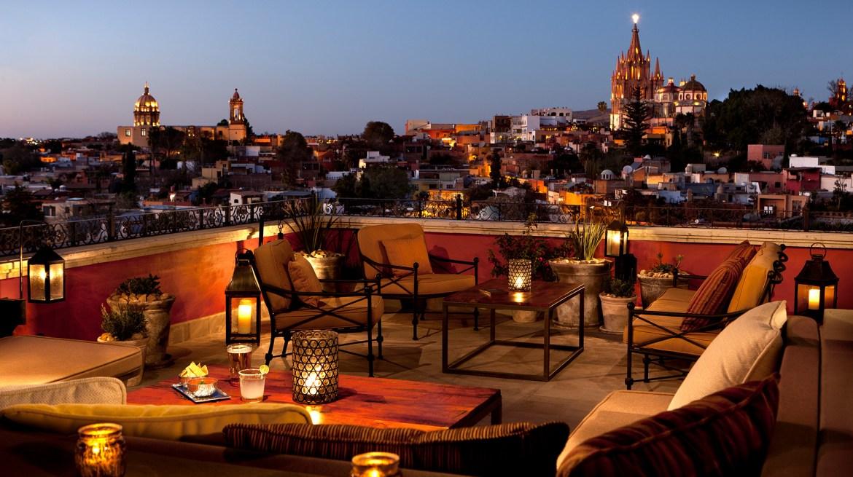 rosewood san miguel de allende Luna Bar terrace - Las 5 estrellas de Forbes Travel Guide han recaído en estos hoteles mexicanos