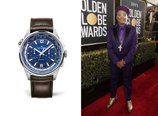 Spike Lee wearing Polaris Chronograph World Time - Los relojes favoritos de los Golden Globe los firma Jaeger-LeCoultre