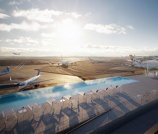 Alberca con vista a las pistas, éste es el nuevo hot spot del aeropuerto JFK de NY