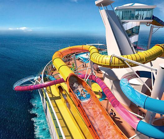Tus próximas vacaciones serán en este crucero con tobogán acuático