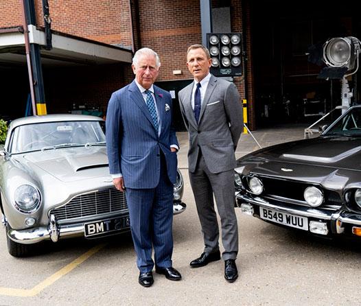 El príncipe Charlie interrumpió las grabaciones de James Bond por una excelente razón