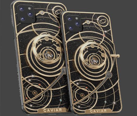 Conoce el diseño de iPhone más extravagante con fragmentos de meteorito, roca lunar y piedras preciosas