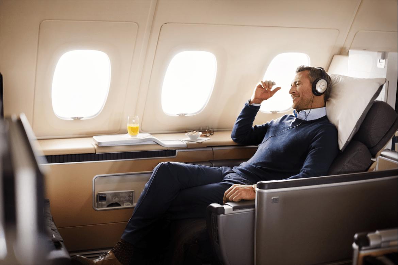 Cabina Primera Clase de Lufthansa