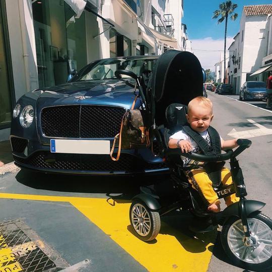 triciclo convertible de Bentley