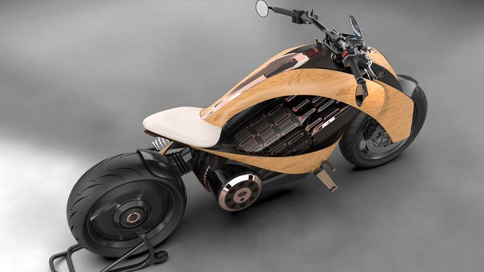 Moto eléctrica de madera
