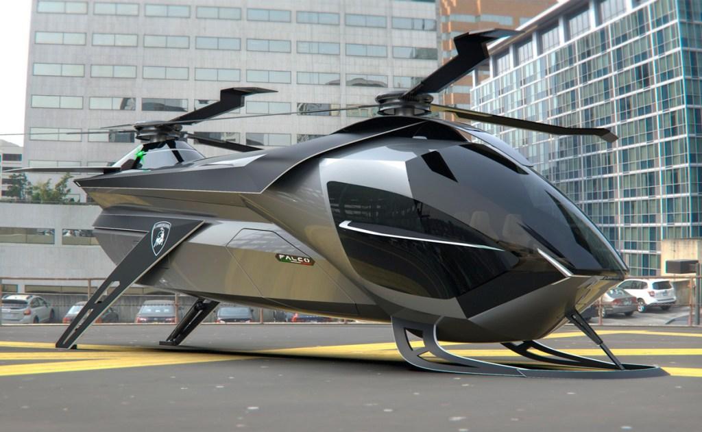 Falco, el helicóptero prototipo de Lamborghini, ¿será una realidad?