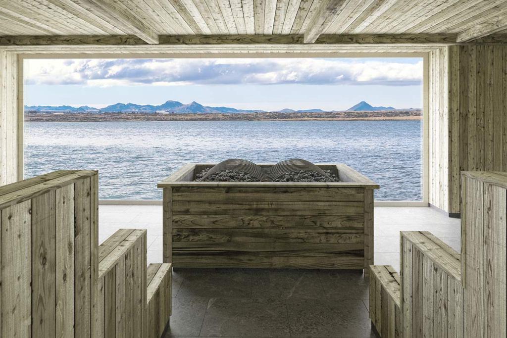 Sauna / foto cortesía Sky Lagoon