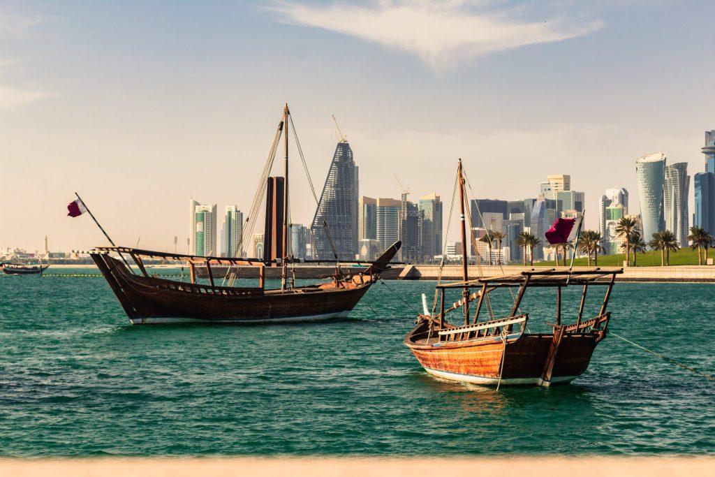 Qatar barcos en Doha