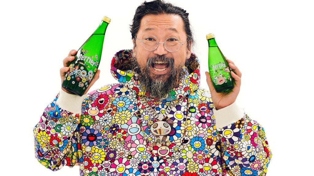 Perrier lanza edicion limitada de botellas adornadas con el arte de Murakami