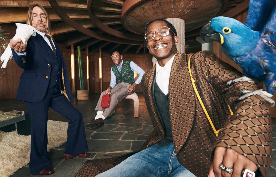 Tyler The Creator, A$AP Rocky e Iggy Pop juntos en la nueva campaña de Gucci Tailoring