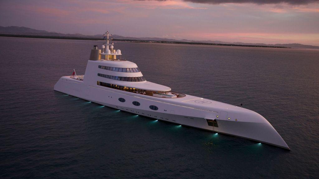 Este es el misterioso Motor Yacht A, la máxima creación flotante de Philippe Starck