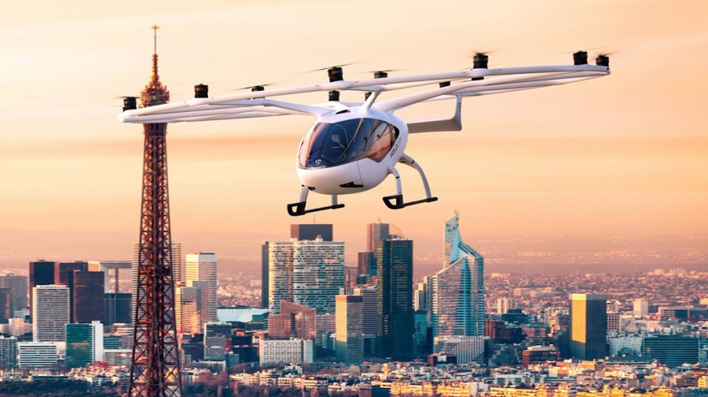 Conoce la solución aérea de Volocopter que comenzará a surcar el cielo de París
