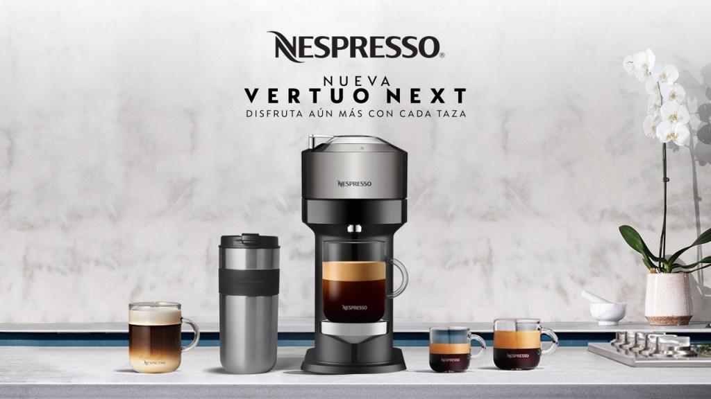 Minimalista y sustentable, así es la nueva cafetera Nespresso Vertuo Next