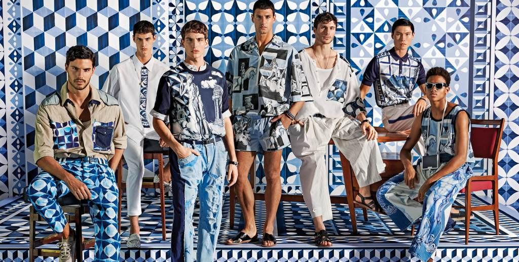 Azul como el Mediterráneo, la colección SS21 de Dolce & Gabbana nos traslada a las paradisíacas playas de Sorrento