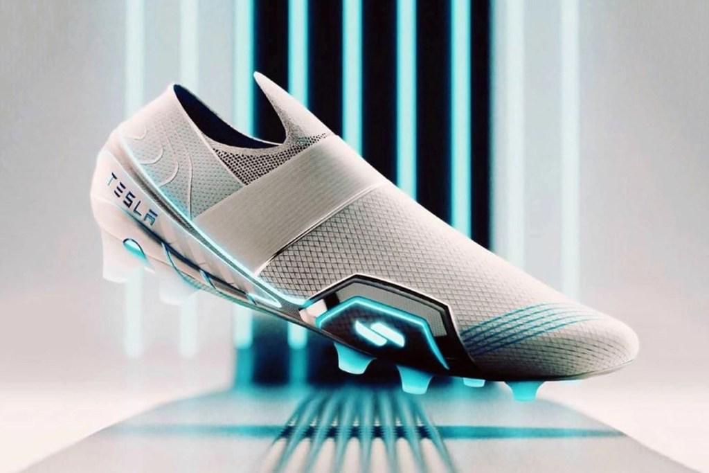 Las zapatillas de futbol Tesla harán más electrificante este deporte