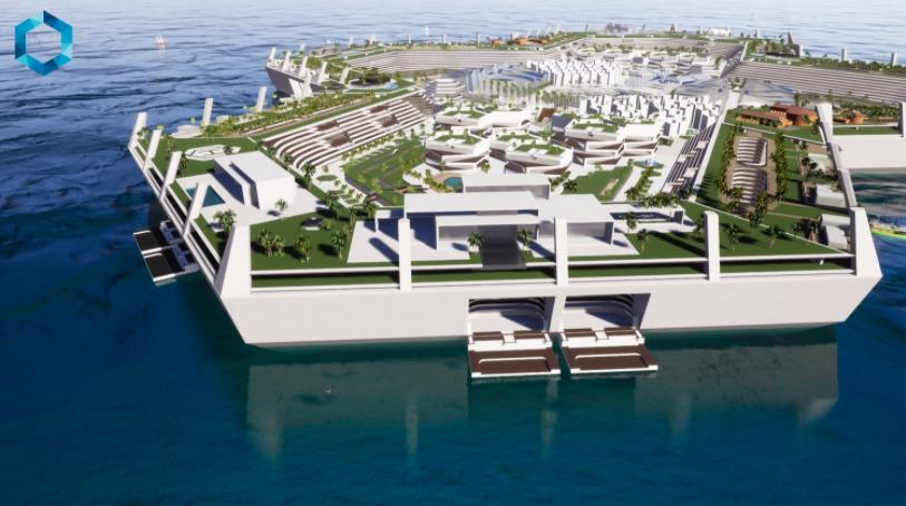 ¿Te sobran mil millones de dólares? Eso es lo que te costará vivir en esta ciudad flotante: The Blue Estate