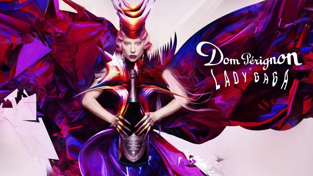 Lady Gaga brinda por la libertad creativa con  la nueva botella de Dom Pérignon