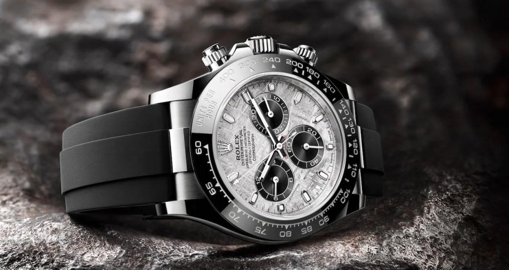 Conoce el nuevo reloj de Rolex con meteorito metálico, un material de origen extraterrestre