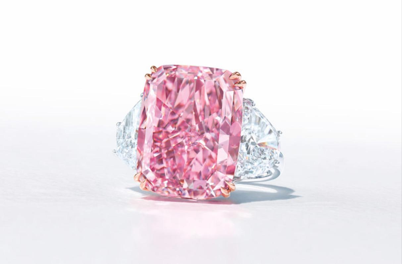 Sakura Diamond, el diamante rosa púrpura más grande del mundo, irá a subasta el próximo mes