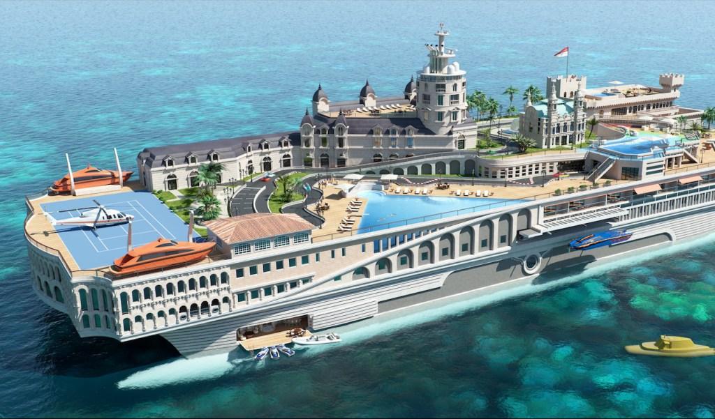El próximo Gran Premio de Mónaco podría ser a bordo de este yate que tiene su propio circuito de F1