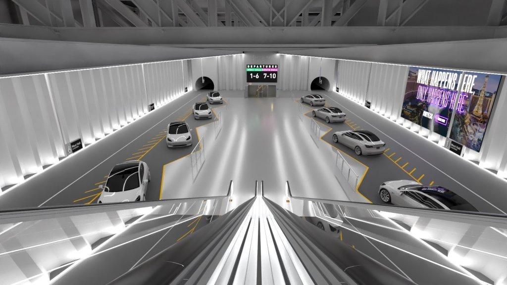 El Vegas Loop de Elon Musk ya hizo su primera prueba con pasajeros
