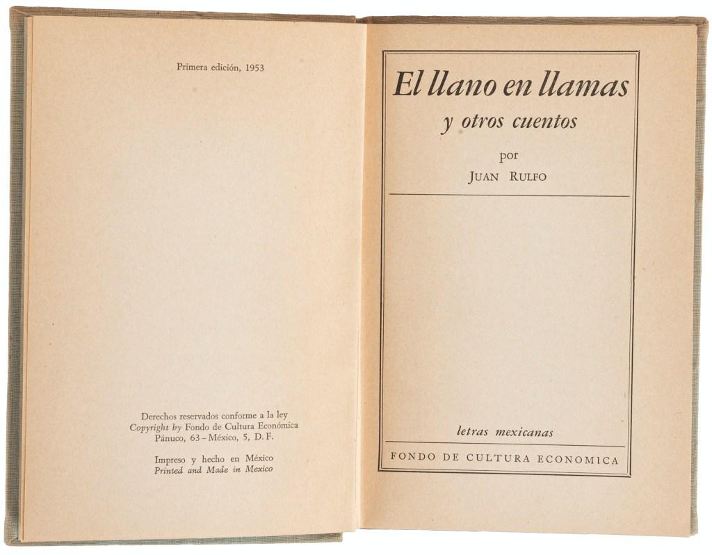 Subastarán primera edición de «El Llano en Llamas» de Juan Rulfo, joya de la literatura mexicana