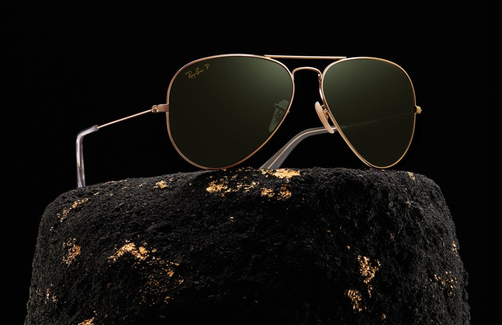 Ray Ban Aviator Solid Gold