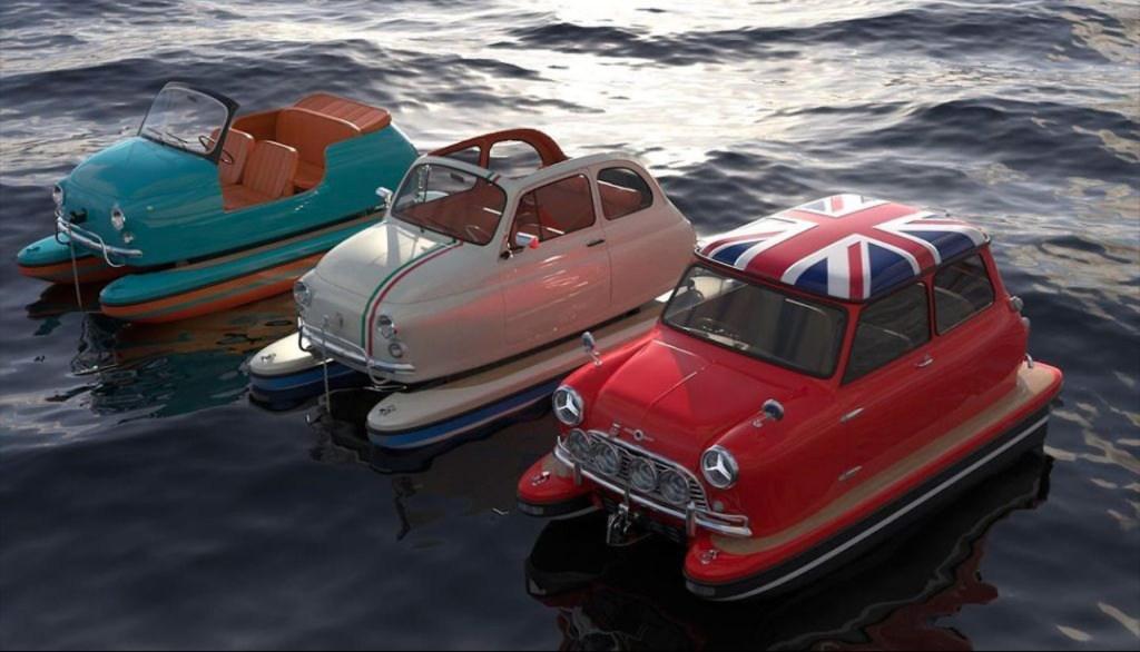 Floating Motors puso a los autos más icónicos a correr sobre el mar
