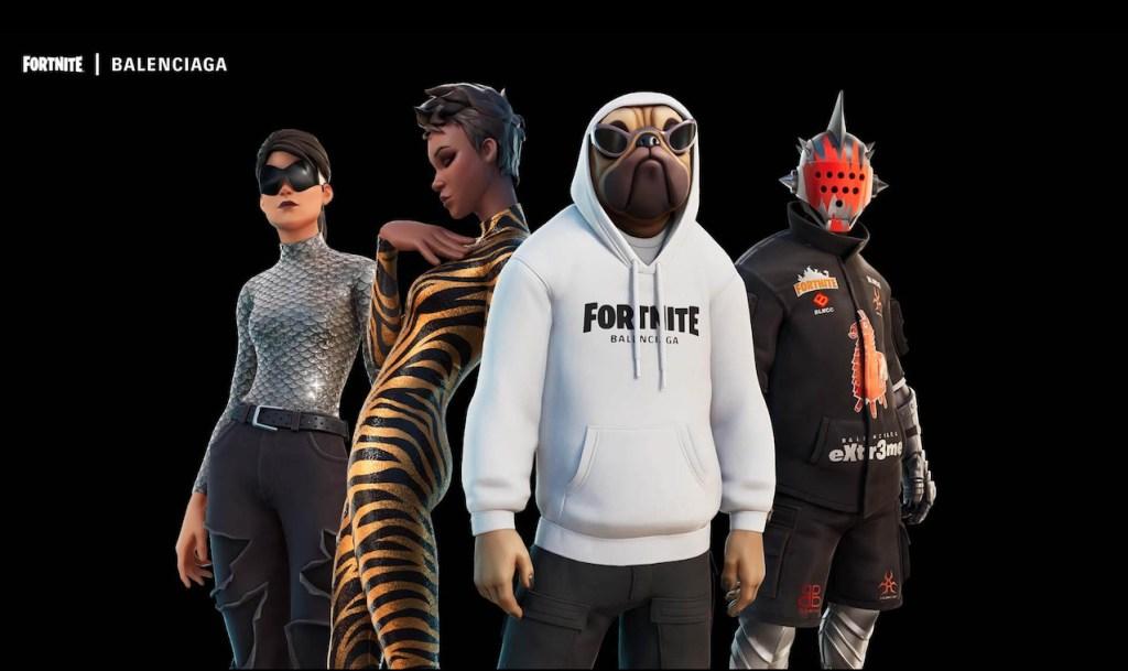 Los personajes más populares de Fortnite vestirán a la moda con Balenciaga