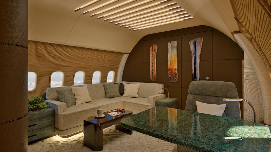 Unas vacaciones relajantes inician en este jet privado con interior de inspiración zen